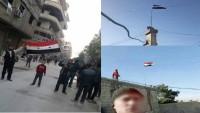 Doğu Guta halkından Suriye ordusuna destek