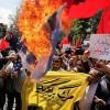 Başkent Tahran'da Siyonistler'in cinayetleri protesto edildi