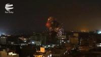 Siyonist rejim savaş uçakları Gazze'yi hedef aldı