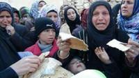 Suriye ordusundan Fua ve Keferya halkına havadan yardım