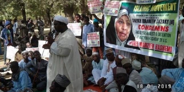 Presstv sunucusu Merziye Haşimi'nin ABD'de tutuklanması protesto edildi