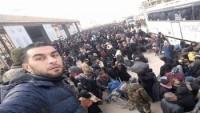 Halep'te Teröristlerden kaçan onbinlerce sivil güvenli bölgelere geçmeyi başardı