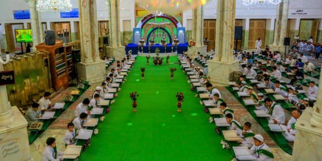 Foto: Necefli Çocuklardan İmam Ali Türbesinde Kur'an Hatmi
