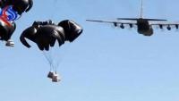 Irak Ordusu ABD Kargo Uçaklarının IŞİD Teröristlerine Cephanelik Attığını Görüntüledi