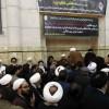 Kum'da Ayetullah Şahrudi için anma merasimi