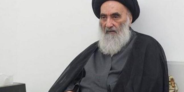 Irak Halkının Manevi Lideri Ayetullah Sistani'den Merhum Ayetullah Şahrudi İçin Taziye Mesajı