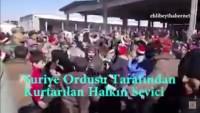 Video: Suriye Ordusu Tarafından Kurtarılan Suriye Halkının Sevinci
