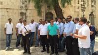 Mescid-i Aksa bekçilerinin gözaltına alınması protesto edildi