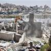 Siyonist İsrail Güçleri, Filistinlilere Ait İş Yerlerini Yıkıyor