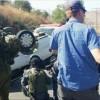 Filistinli bir genç otomobille İsrail askerlerine çarptı: 3 asker yaralı