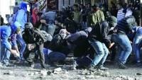 Siyonist İsrail güçleri, Kudüs'ün kuzeyindeki Kalendiya Kampı'na bu sabah baskın düzenledi