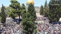 200 Bin Filistinli Mescidi Aksa'da Cuma Namazı Kıldı