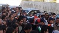 Filistinli Şehit Polis Nablus'ta Binlerce Kişi Tarafından Toprağa Verildi