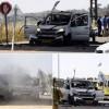 Gazze Direnişçilerce Atılan Füze'nin Bir Araca İsabet Etmesi Sonucu Araç Sürücü Öldü, Araçta Bulunan 2 Kişi de Ağır Yaralandı.
