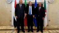 İtalya, Cezayir ve Mısır Dışişleri Bakanları, Kahire'de Bir araya Geldi