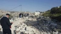 Siyonist İşgal Yönetimi Kudüs'te Filistinlilere Ait İki Evi Yıktı