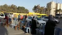 Esir Anneleri ve Gençler Açlık Grevinin 29. Gününde Ramallah'ta Yolları Kapattı