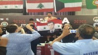 Suriyeli Milli Sporcu, Kazandığı Zaferin Ardından Beşar Esad ve Suriye Bayrağı Açtı