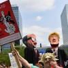 Brüksel'de Trump Protesto Edildi