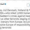 Zarif: İran'ı suçlamak teröristlere sığınma veren Avrupa'yı temize çıkarmaz