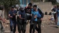 Siyonist İsrail Askerleri, Gösteri Düzenleyen Filistinli Gençler'in Üzerine Ateş Açtı