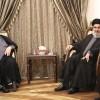 Ayetullah Sistani'nin Vekili Seyyid Hasan Nasrallah İle Görüştü