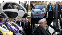 Hasan Ruhani, İran'da üretilen elektrikli otomobili test etti