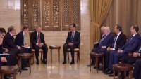 Beşar Esad: Suriye'nin yeniden yapım ve onarımına vurgu yaptı