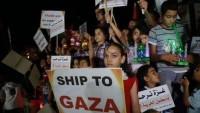 Filistinli çocuklar Gazze ablukasının kaldırılması için gösteri yaptı