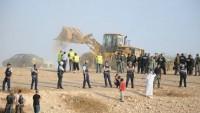 Siyonist İsrail güçleri En-Nakab'taki El-Arakib köyünü 105'inci kez yıktı