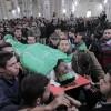 Binlerce Filistinli Tünel Şehitlerini Son Yolculuklarına Uğurladı
