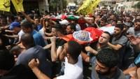Batı Şeria'da 2 Şehid'in Cenazesine Onbinlerce Kişi Katıldı