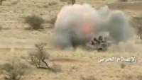 Yemen Hizbullahı Suudi Askeri Aracını Pusuya Düşürdü