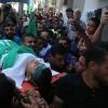 Gazze Halkı Dün Şehit Olan Ahmed ve Muaz'ı Son Yolculuğa Uğurladı