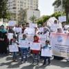Gazze'de abluka karşıtı gösteri