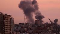 Siyonist İsrail Savaş Uçakları Gazze Direnişçilerini Bombaladı