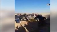 Gazzeli Gençler Siyonist İsrail Güçlerine Ait 2 Adet Drone'yi Sapan Taşlarıyla Vurarak Düşürdü