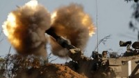 Siyonist İsrail Ordusuna Bağlı Topçu Birliği Gazze Şeridi'nin Kuzeyini Bombaladı