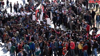 """Suriye'de Trump'ın """"Golan Tepeleri"""" kararı protesto edildi"""