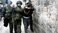 Siyonist İsrail Güçleri Batı Yaka ve Kudüs'te 22 Filistinliyi Gözaltına Aldı
