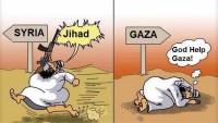 Karikatür: Suriye'de Cihad Deyip Müslüman Kanı Dökenler Gazze'ye Dua Etmekle Yetiniyor…