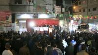 Ummu'l-Hayran'daki Yıkımlar Hamas'ın Düzenlediği Yürüyüşle Protesto Edildi