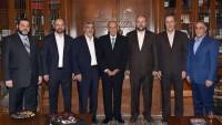 Hamas Heyeti Beyrut'ta Lübnan Meclis Başkanı Nebih Berri İle Görüştü