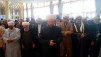Foto: Suriye Müftüsü Şeyh Hassun, Vahdet Konferansı Katılımcılarına Vahdet Namazı Kıldırdı