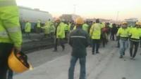 Üçüncü havalimanında eylem: İşçiler yolu kapattı