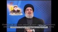 Seyyid Hasan Nasrullah: Özellikle Irak'taki Sünni alimler ve siyasi yetkili kardeşlerimizi selamlıyoruz