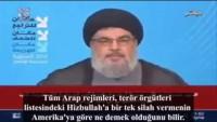Seyyid Hasan Nasrullah: Gazze'deki Füzeleri Suudiler mi Gönderdi, Suriye mi?