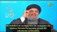 Seyyid Hasan Nasrullah: Ülkemize saldırırlarsa yüz binlerce Siyonist'in hayatını cehenneme çeviririz