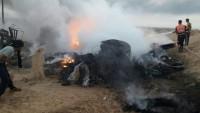 Siyonist İşgal Güçleri Dönüş Çadırlarına Uçaklarla Yanıcı Madde Attı 