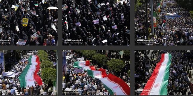 Hemedan kentinde Kudüs Günü gösterileri düzenlendi